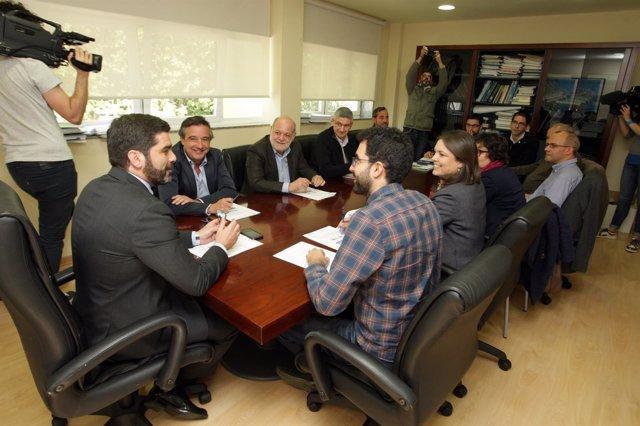 Reunión sobre la sequía con Augas de Galicia