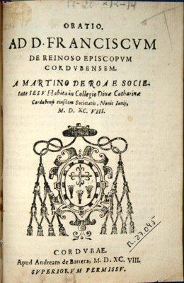 Libro del siglo XVI de Martín de Roa