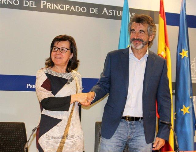 María Jesús Álvarez y Guillermo Palomero