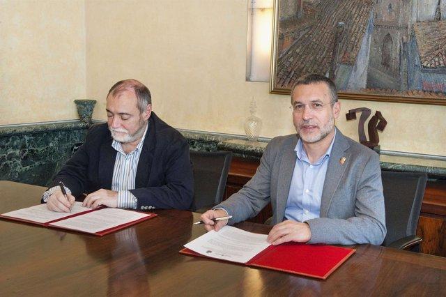 El alcalde de Burlada y el vicepresidente de Derechos Sociales
