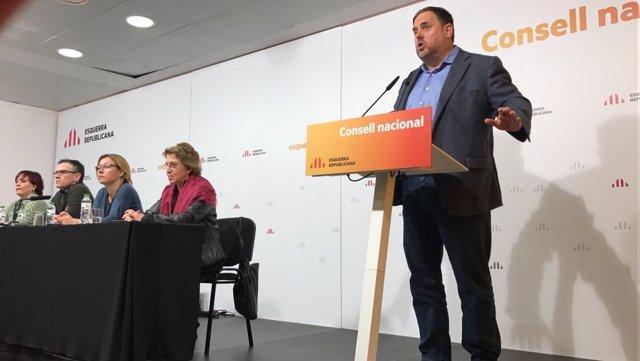 El Vicepresidente Del Govern Y Líder De ERC, Oriol Junqueras
