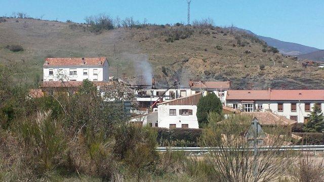 Palencia: Viviendas afectadas por el fuego en Cerverz