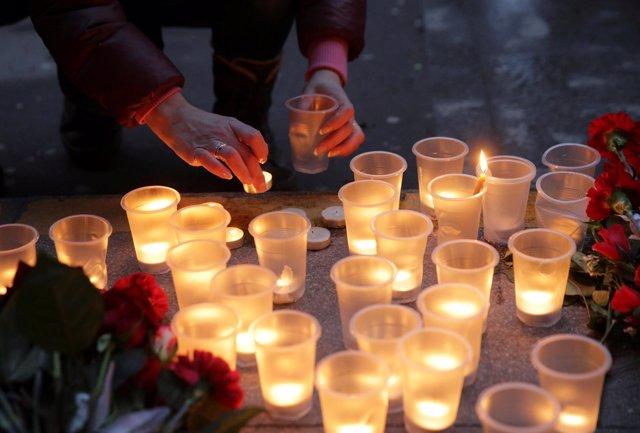 Homenaje a las víctimas del atentado en San Petersburgo