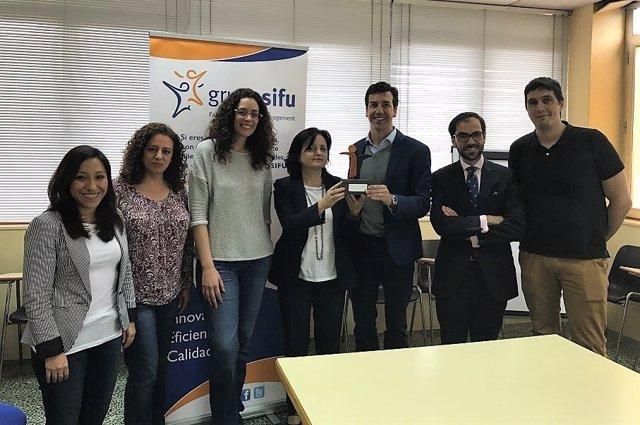 Grupo SIFU reconoce la labor de Frama Estudio en la integración laboral de perso
