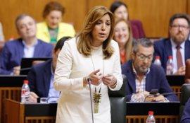 """Susana Díaz reclama """"valor"""" a Moreno para levantar la voz ante el """"atropello"""" de los PGE"""