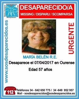 Muller desaparecida en Ourense