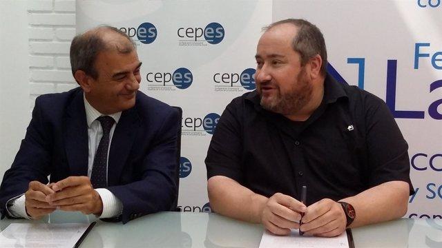 Juan Antonio Pedreño y Juan Vela, de CEPES y LARES