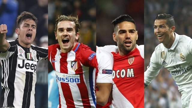 Dybala, Griezmann, Falcao y Cristiano Ronaldo
