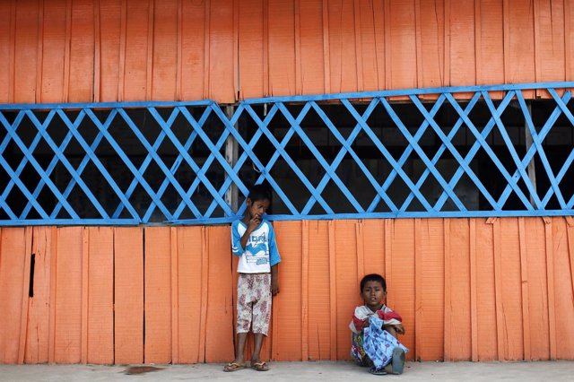 Niños en Camboya