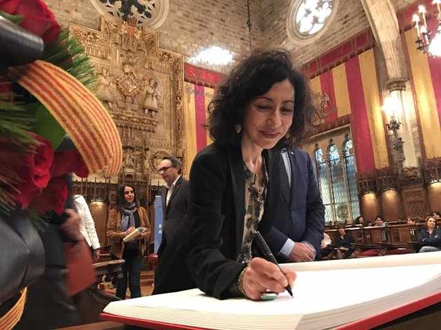 La escritora Yasmina Reza en el Pregón de Sant Jordi de Barcelona
