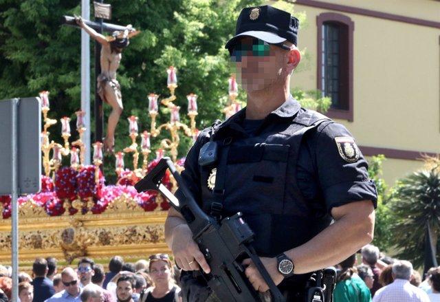 Semana Santa, seguridad, Sevilla, policía, dispositivo