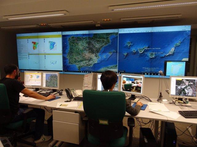 Control de incendios desde el Ministerio de Medio Ambiente.