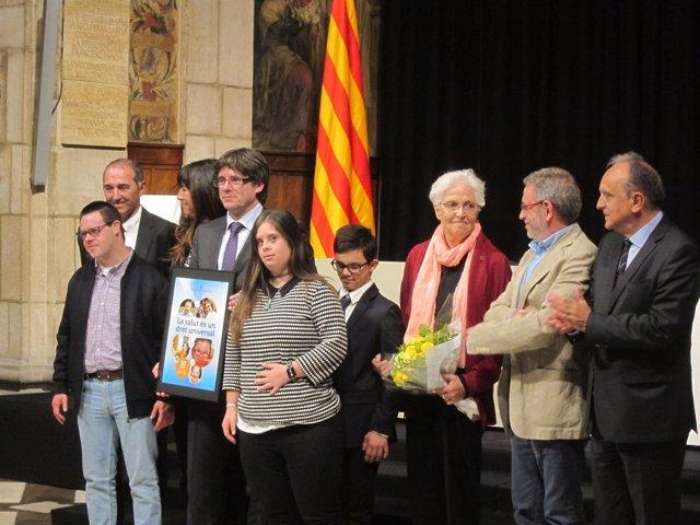 El pte.C.Puigdemont, en el acto del 30 aniversari