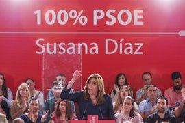 """Susana Díaz ve """"nerviosismo"""" fuera del PSOE ante """"una ola de esperanza"""""""