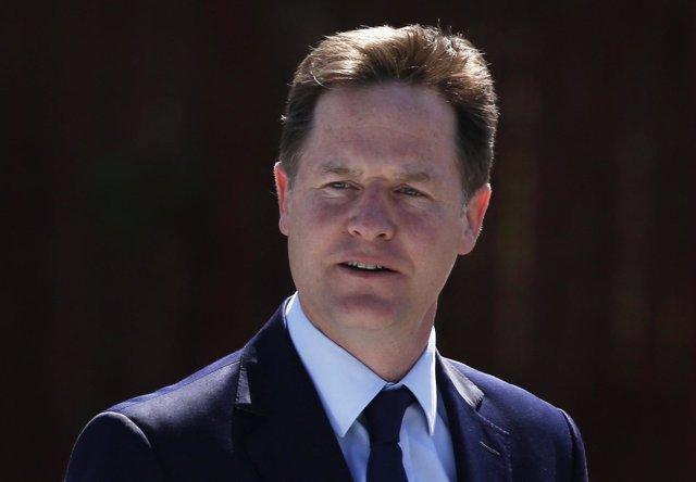 El candidato a las elecciones generales británicas, Nick Clegg