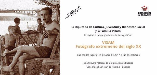 """Convocatoria. Inauguración De La Exposición """"Visam. Fotógrafo Extremeño Del Sigl"""