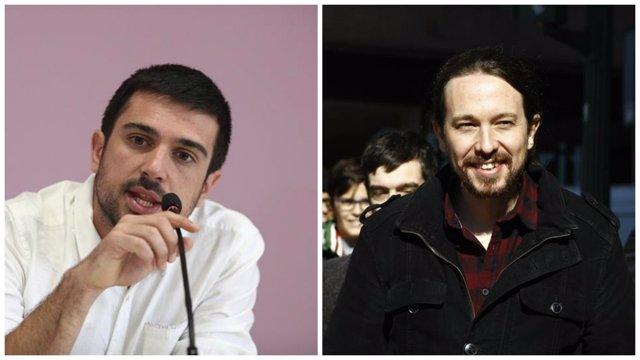 Ramón Espinar y Pablo Iglesias