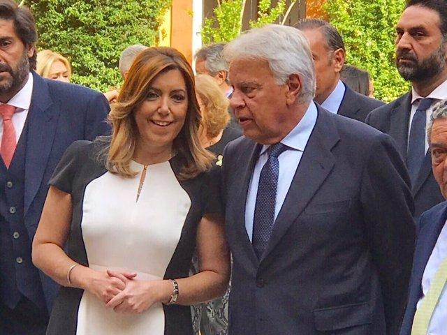 Susana Díaz y Felipe González
