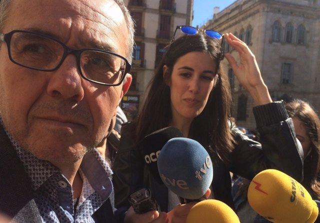 El portavoz de SiQueEsPot en el Parlament Joan Coscubiela