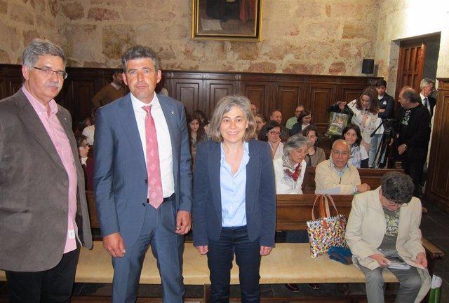 Paco Blanco, Julián Barrera y Cristina Pita