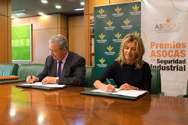 Firma acuerdo entre Caja Rural Asturias y Asocas