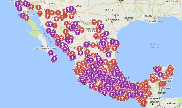 Google Maps feminicidios