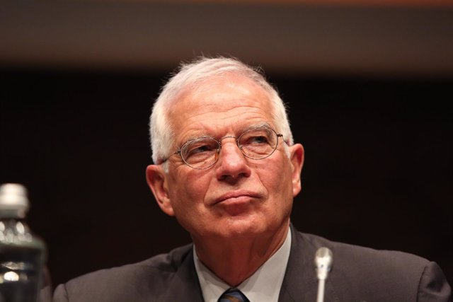 Josep Borrell en un acto
