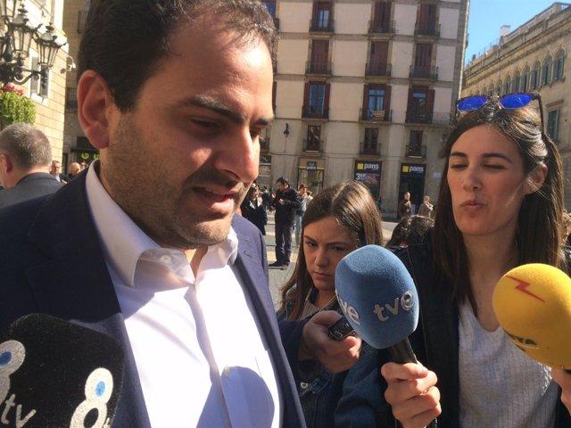 El diputado del PP en el Parlament Fernando Sánchez
