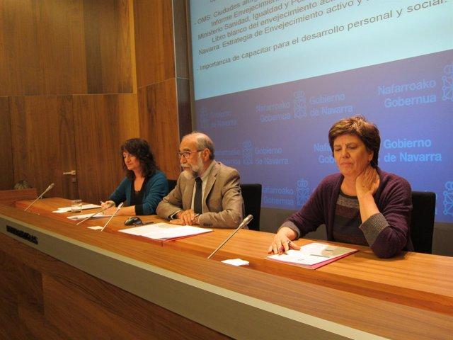 Mª José Pérez Jarauta, Fernando Domínguez y Marga Echauri