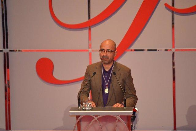 Oscar Esquivias, durante su intervención.