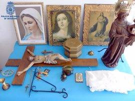 Detenidas dos personas en Mallorca por robar objetos religiosos en capillas e iglesias