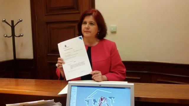 La diputada Elvira Ramón en un registro en el Congreso