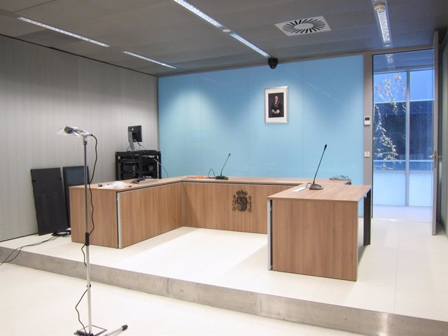 Sala de vistas del nuevo Palacio de Justicia de La Rioja