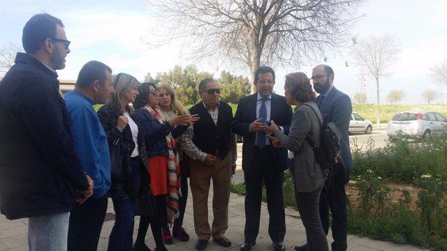 Alberto Díaz visita los Jardines de Hércules