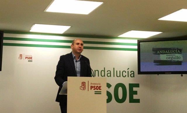 El secretario de Política Institucional del PSOE-A, Francisco Conejo