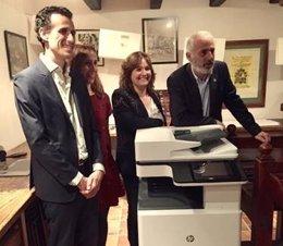 Acto de presentación de la nueva impresora multifunción de HP
