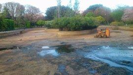 """Participa pide no vaciar el estanque del parque de los Príncipes en Feria para evitar """"que mueran animales"""""""