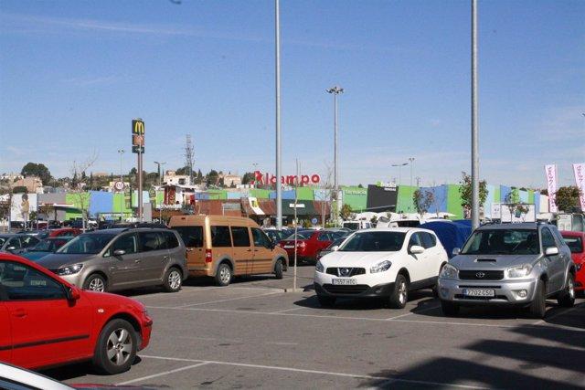 Coches,aparcamiento, Parque comercial