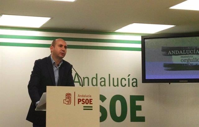 El secretario de Política Institucional del PSOE-A, Francisco Conejo.