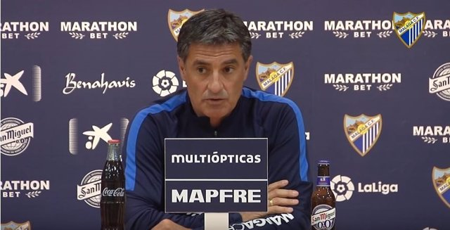 Míchel González, entrenador del Málaga