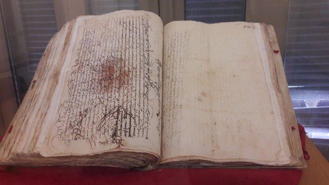 Documento pueblo gitano málaga siglo XVII archivo municipal málaga