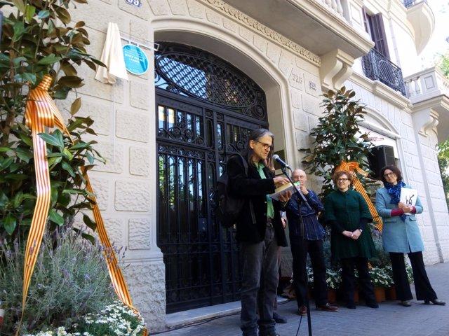 El artista Perejaume durante el acto de apertura del Any Palau i Fabre