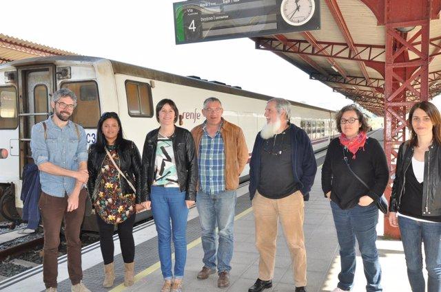La portavoz nacional del BNG, Ana Pontón, en Ferrol