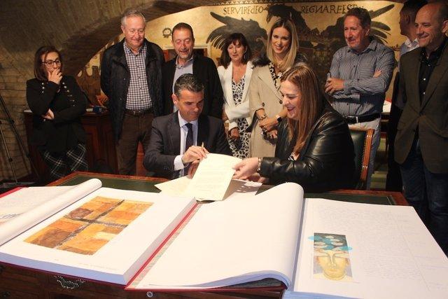 Cesión el quijote manuscrito marbella educación libro colegio Miguel de Cervante
