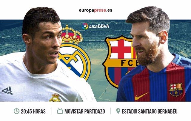 Horario y dónde ver el Real Madrid – Barcelona | Jornada 33 Liga Santander