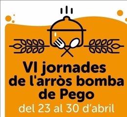 Cartel de las Jornadas del arroz bomba de Pego