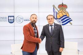Diputación de Gipuzkoa y Fundación Real Sociedad firman un convenio para el desarrollo del fútbol base guipuzcoano