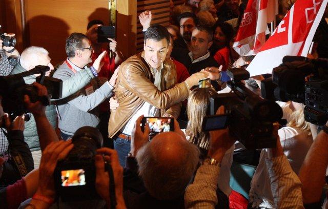 El candidat de les primàries per a la Secretaria General del PSOE Pedro Sánchez
