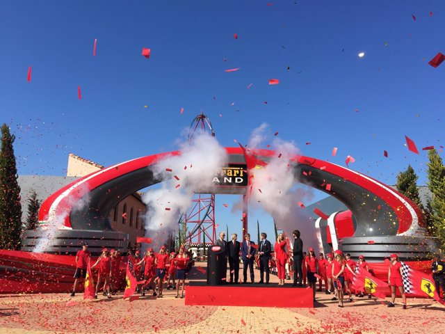 Acto de inauguración institucional de Ferrari Land en PortAventura