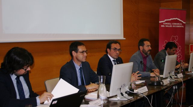 Josep Rull, Ignasi Giménez y David Ricart